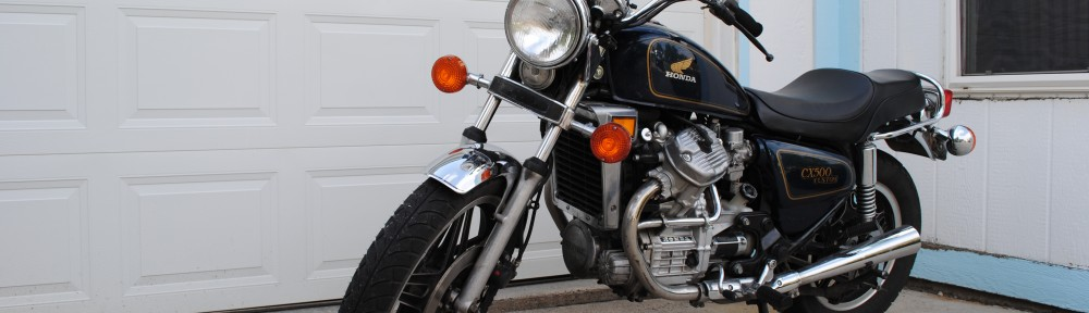 My motorcycle, back home - 1979 Honda CX 500 Custom